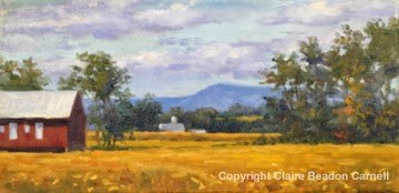"""""""'Autumn Lane'  An Original Oil Painting by Claire Beadon Carnell"""" original fine art by Claire Beadon Carnell"""