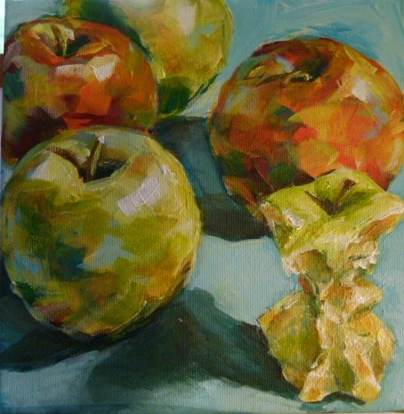 """And now,I will eat all the apples..."" original fine art by Sabine Hüning"