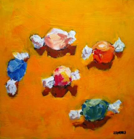 """saltwater taffy"" original fine art by Shelley Garries"