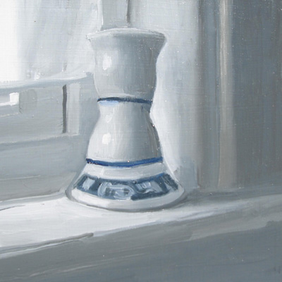 """Candleholder on Sill"" original fine art by Michael William"