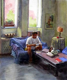 """Watercolor: What're we doing Today?"" original fine art by Belinda Del Pesco"