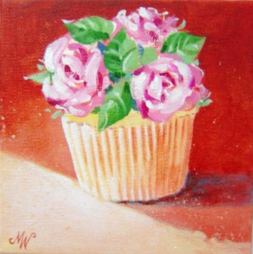 Happy Birthday Cupcake! original fine art by Margie Whittington