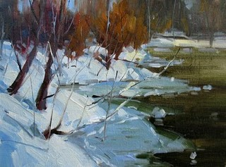 """Winter of Yosemite National Park"" original fine art by Fongwei Liu"