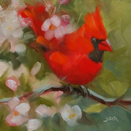 """Cardinal #2"" original fine art by Elaine Juska Joseph"