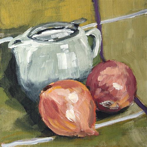 """""""Onion Pot"""" original fine art by J. Farnsworth"""