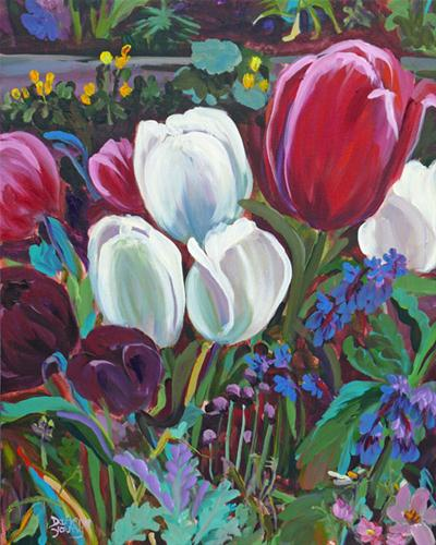 """More Tulips"" original fine art by Darlene Young"