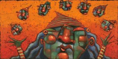 """#8 Is Hip To Their Tricks (Pinky, The Unknown Dwarf)"" original fine art by Brenda York"