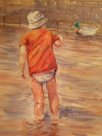 """Watching"" original fine art by Graham Findlay"