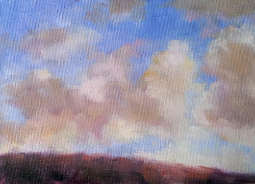 """Skyscape One"" original fine art by Cindy Haase"