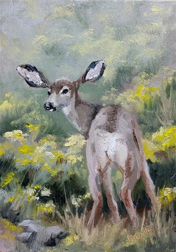 """All Ears"" original fine art by Veronica Brown"