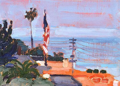 """""""Ocean Beach Plein Air"""" original fine art by Kevin Inman"""