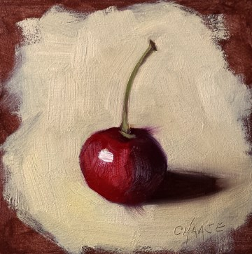 """Cherry on Copper"" original fine art by Cindy Haase"