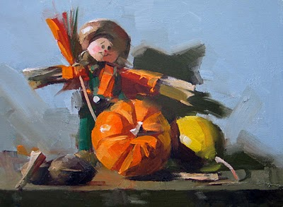 """Harvest Time"" original fine art by Qiang Huang"