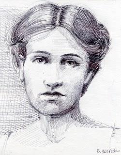"""""""Drawing: Edith"""" original fine art by Belinda Del Pesco"""