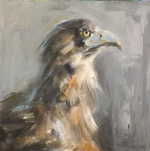 """EAGLE,A2"" original fine art by Run-      Zhang Zane"