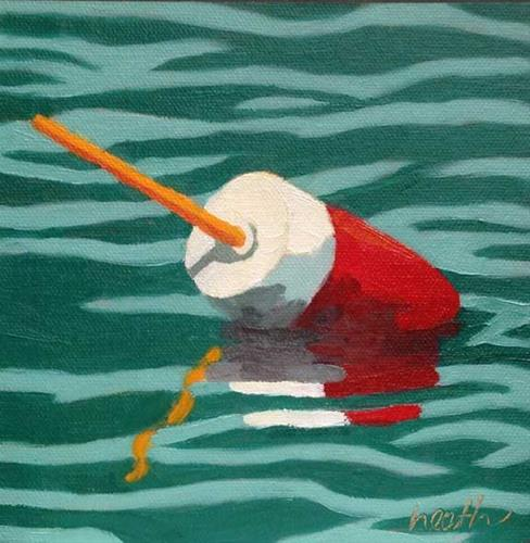 """Lobster Buoy 4"" original fine art by Bobbi Heath"