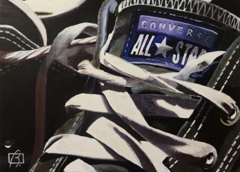 """Close Converse"" original fine art by Andre Beaulieu"
