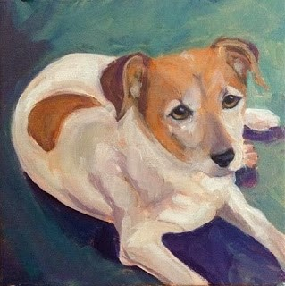 """Jasper, BJ's Pup"" original fine art by Lyn Gill"