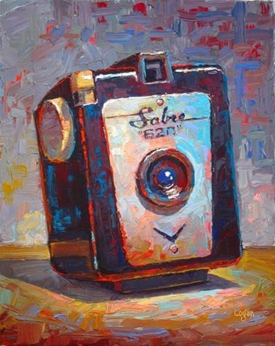 """Sabre 620 Camera"" original fine art by Raymond Logan"