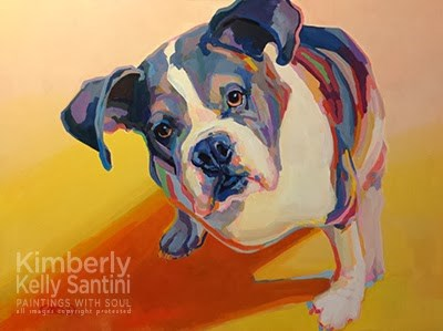 """Miles"" original fine art by Kimberly Santini"
