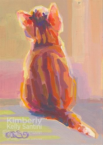 """Tabby Kit"" original fine art by Kimberly Santini"