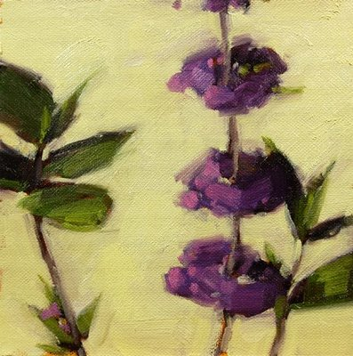 """Lingering Beautyberries"" original fine art by Laurel Daniel"