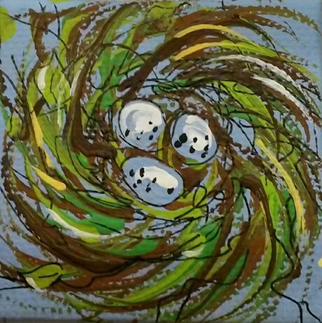 """Itty Bitty Nest"" original fine art by Terri Einer"