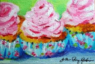 """Pink Frosting"" original fine art by JoAnne Perez Robinson"