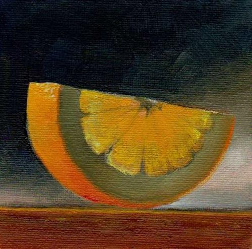 """slice of orange"" original fine art by V. DeBak"