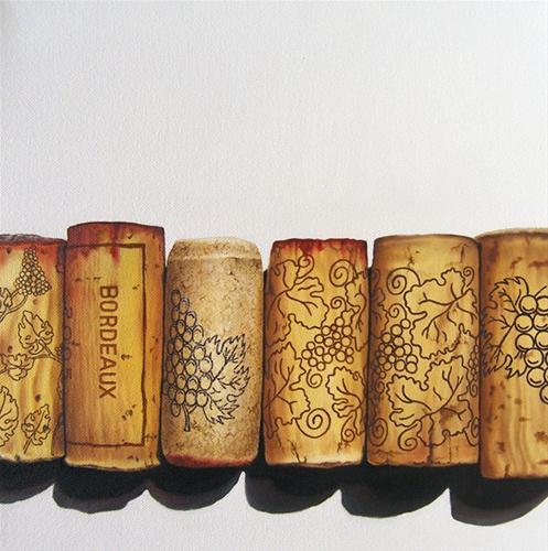 """""""Bordeaux"""" original fine art by Jelaine Faunce"""