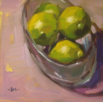 """Limes in the Sun"" original fine art by Carol Marine"