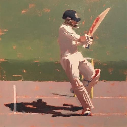 """BATSMAN SERIES #7 of 9"" original fine art by Helen Cooper"