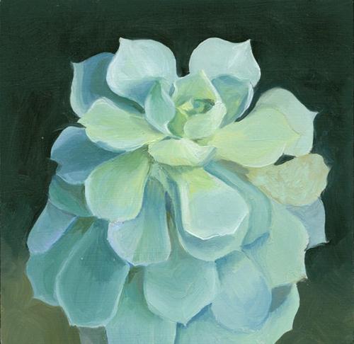 """Succulent II"" original fine art by Jean Wilkey"