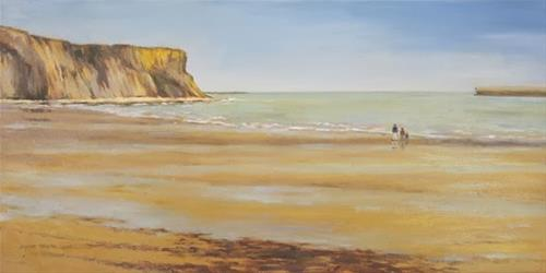 """""""France Series 'Remembrance' Gold Beach, Normandy, France An Original Oil Painting by Claire Beadon C"""" original fine art by Claire Beadon Carnell"""