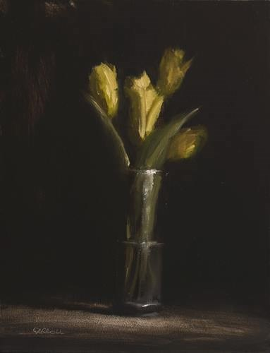 """Yellow Tulips"" original fine art by Neil Carroll"