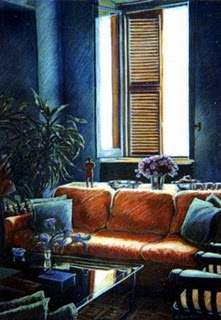 """Pastel: Bergamo Apartment"" original fine art by Belinda Del Pesco"