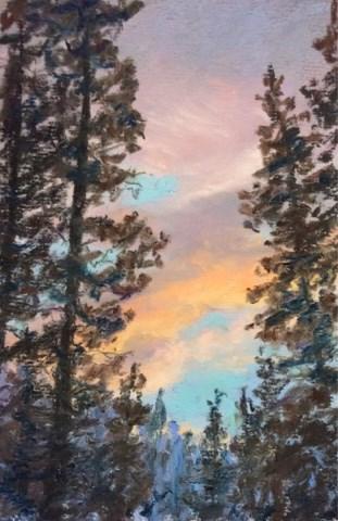 """""""SKYLIGHT"""" original fine art by Marti Walker"""