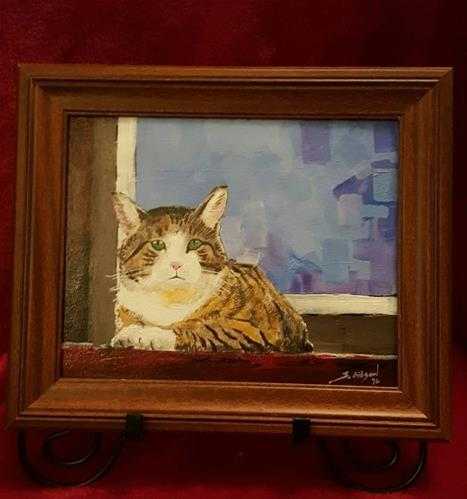 """Barn Cat 2"" original fine art by Steve Gibson"