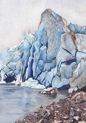"""Reid Glacier #1"" original fine art by Carole Baker"