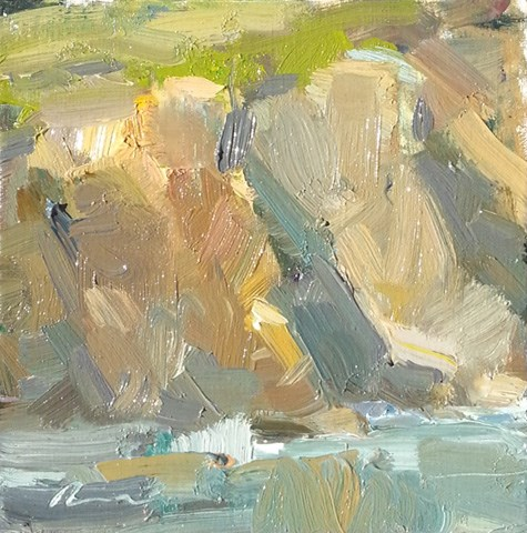 """TODAY OPEN STUDIO - Windy cliff Cal.13"" original fine art by Roos Schuring"