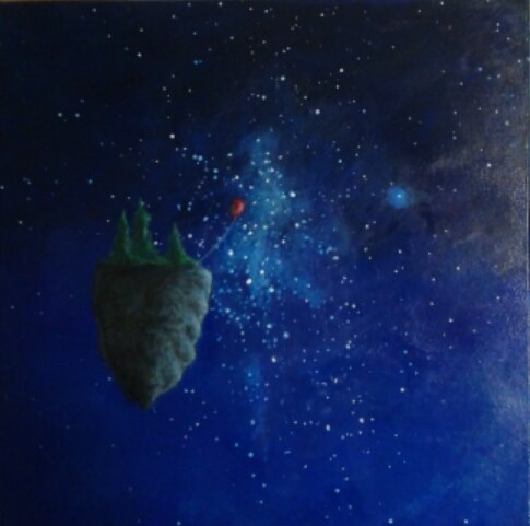 """Cosmos Floating Island"" original fine art by Staar Caswell"