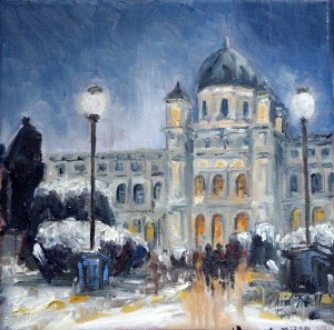 """Kunsthistorisches Museum in Wien"" original fine art by Christa Friedl"
