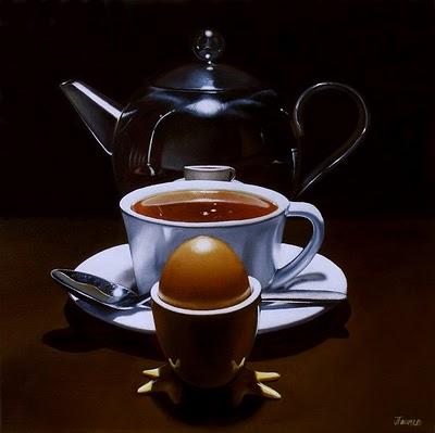 """Egg & Tea Study - Private Commission"" original fine art by Jelaine Faunce"