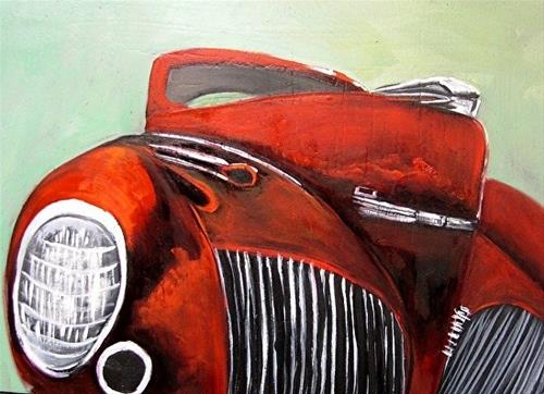 """""""Red Sedan"""" original fine art by Barbara Haviland"""