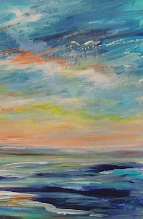 """3181 - Matted - Angel Sky"" original fine art by Sea Dean"