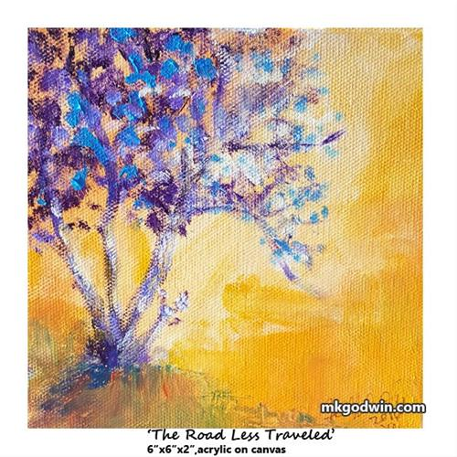 """The Road Less Traveled"" original fine art by Marie K Godwin"