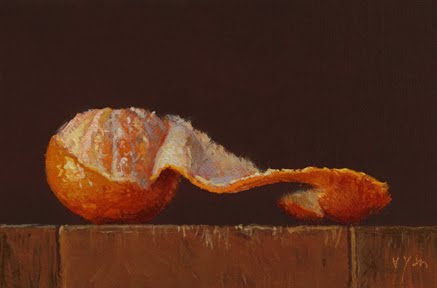 """Tangerine with Peel"" original fine art by Abbey Ryan"