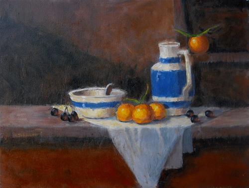 """Still Life with Oranges"" original fine art by Kathy Johnson"
