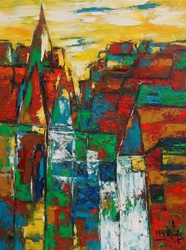"""The Church"" original fine art by Duc Tran"