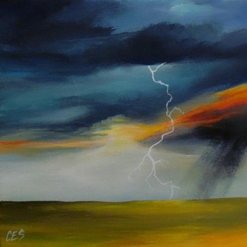 """Fire in the Sky"" original fine art by ~ces~ Christine E. S. Code"
